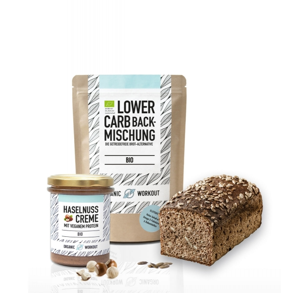 Plantlove-Duo Bio Haselnusscreme + Lower-Carb Backmischung