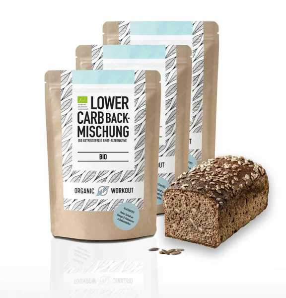 Bio Lower-Carb Backmischung 3er Pack – glutenfrei & ohne Ei