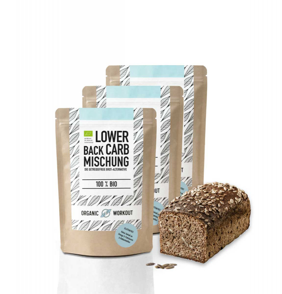 Bio Lower-Carb Brot-Backmischung 3er Pack – glutenfrei & ohne Ei