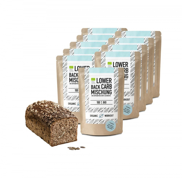 Bio Lower-Carb Brot-Backmischung 10er Pack – glutenfrei & ohne Ei