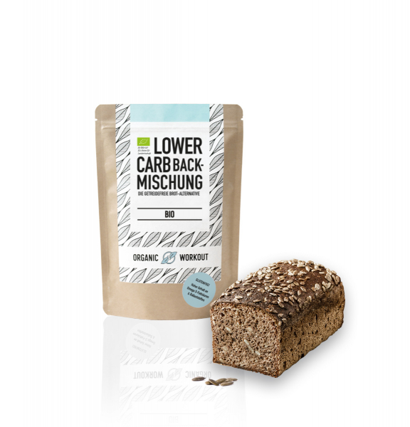 Bio Lower-Carb Backmischung – glutenfrei & ohne Ei
